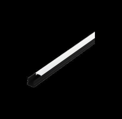 98927 EGLO SURFACE PROFILE 2 16mm-es 1m fekete led profil opál diffúzorral