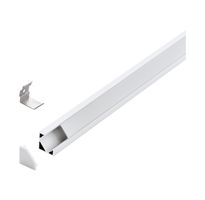 98958 EGLO CORNER PROFILE 2 18mm-es 1m fehér led sarok profil opál diffúzorral