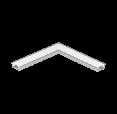 98979 EGLO RECESSED PROFILE 1 alumínium süllyeszthető led profil sarok elem opál diffúzorral