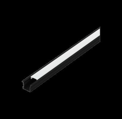 98994 EGLO RECESSED PROFILE 2 15mm-es 1m fekete süllyeszthető led profil opál diffúzorral